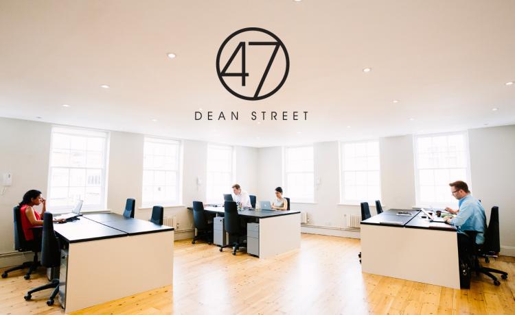 Brand design for 47 Dean Street.